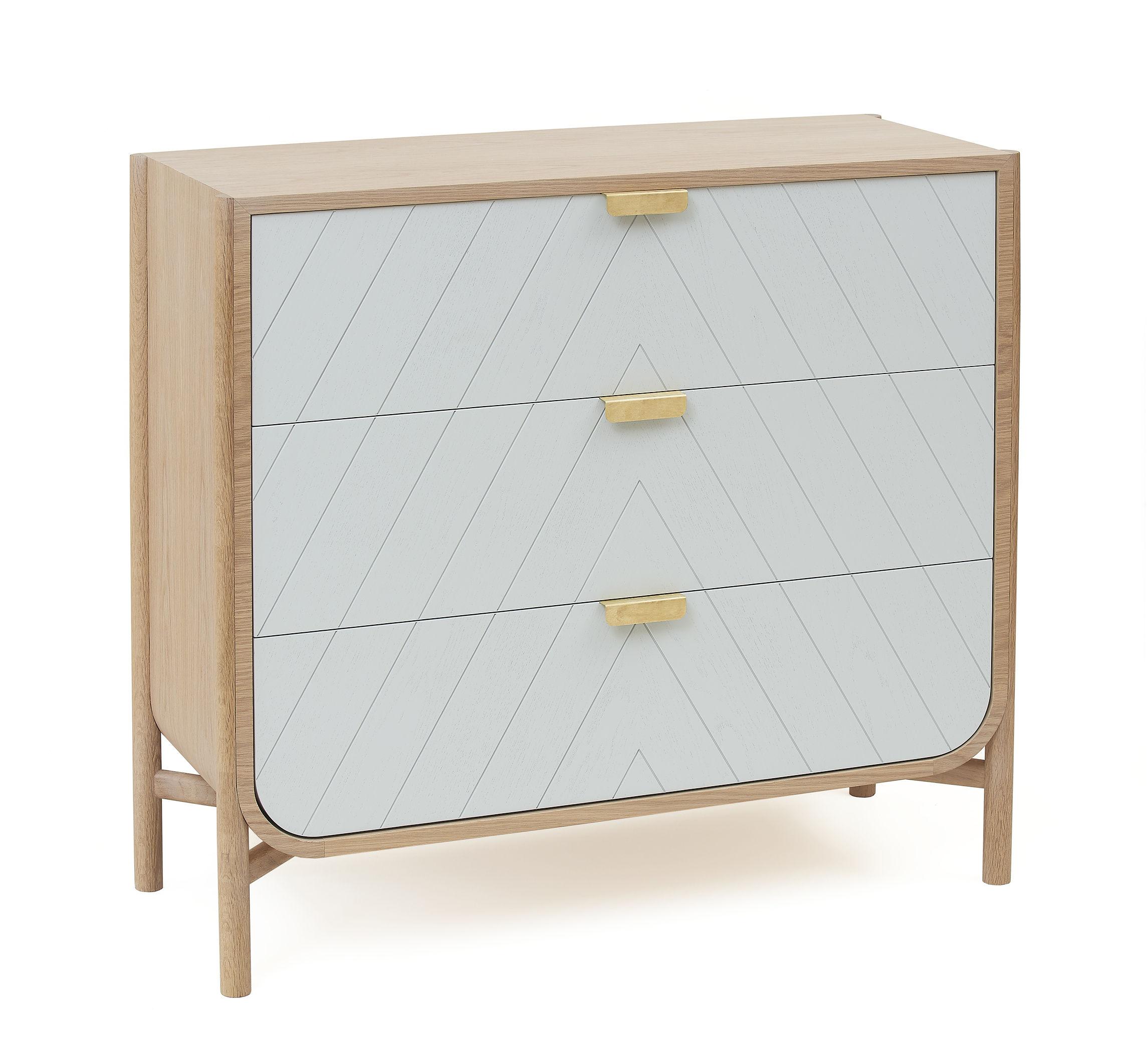 commode marius l 100 x h 90 cm gris ch ne poign es laiton hart made in design. Black Bedroom Furniture Sets. Home Design Ideas