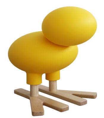 Arredamento - Mobili per bambini - Sgabello bambino Happy Bird / Decorazione - H 66 cm - Magis Collection Me Too - Giallo / Legno naturale - Frassino massello, Polietilene