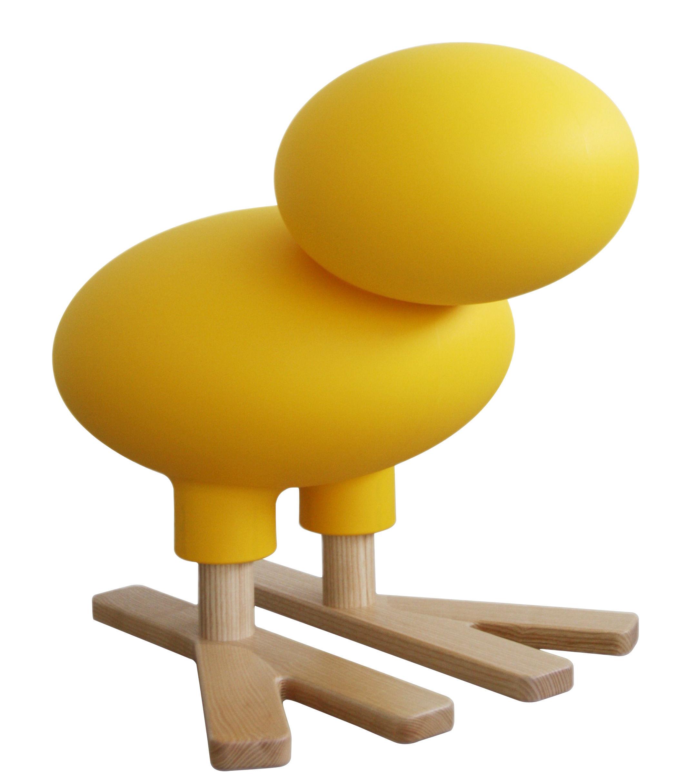 Möbel - Möbel für Kinder - Happy Bird Dekoration / Deko - H 66 cm - Magis Collection Me Too - Gelb / holzfarben - Esche massiv, Polyäthylen