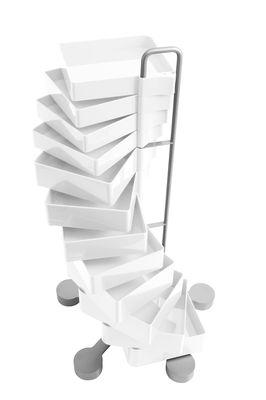 Desserte Spinny - B-LINE blanc en métal/matière plastique