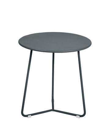 Furniture - Coffee Tables - Cocotte End table - / Stool - Ø 34 x H 36 cm by Fermob - Storm grey - Painted steel
