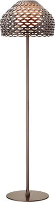 Lighting - Floor lamps - Tatou F Floor lamp - H 180 cm by Flos - Gray-ocher - Methacrylate, Polycarbonate