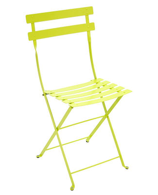Furniture - Chairs - Bistro Folding chair - Metal by Fermob - Verbena - Lacquered steel