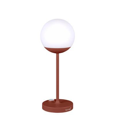 Illuminazione - Lampade da tavolo - Lampada senza fili Mooon! LED - / H 41 cm - Ricarica USB di Fermob - Ocra rossa - Alluminio, Polietilene