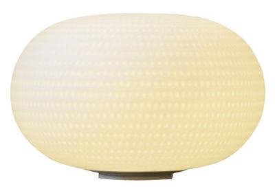 Luminaire - Lampes de table - Lampe de table Bianca LED / Verre - Fontana Arte - Blanc - Métal verni, Verre soufflé