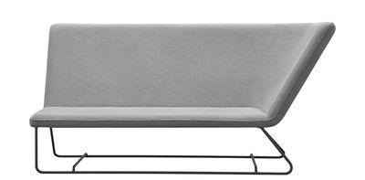Arredamento - Divani moderni - Meridienne Ultrasofa / L 182 cm - 2 posti - Fermob - grigio perla / Struttura Carbone - Acciaio, Espanso, Tessuto acrilico