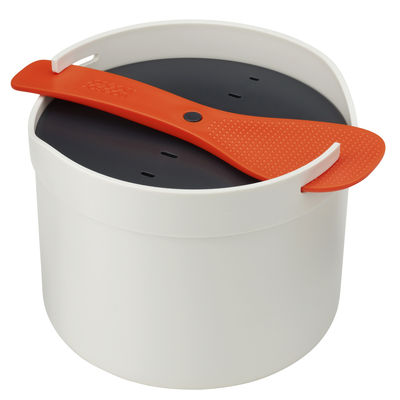 Kitchenware - Kitchen Equipment - M-Cuisine Microwave cooker - Rice and cereal by Joseph Joseph - Stone/Orange - Polypropylene