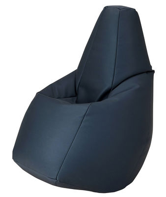Mobilier - Poufs - Pouf Sacco Outdoor / Pour l'extérieur - Tissu - Zanotta - Bleu marine - Tissu VIP