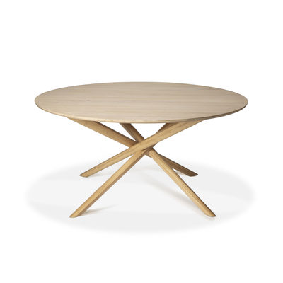Furniture - Dining Tables - Mikado Round table - / Solid oak - Ø 150 cm by Ethnicraft - Oak - Solid oak