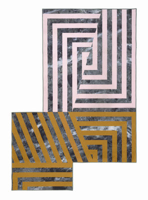 Decoration - Rugs - Kartell Carpet Rug - / 300 x 200 cm by Kartell - Multicoloured / Stripes - Polypropylene