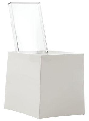 Arredamento - Sedie  - Sedia Miss Less di Kartell - Seduta bianca / Schienale cristallo - policarbonato, Tecnopolimero
