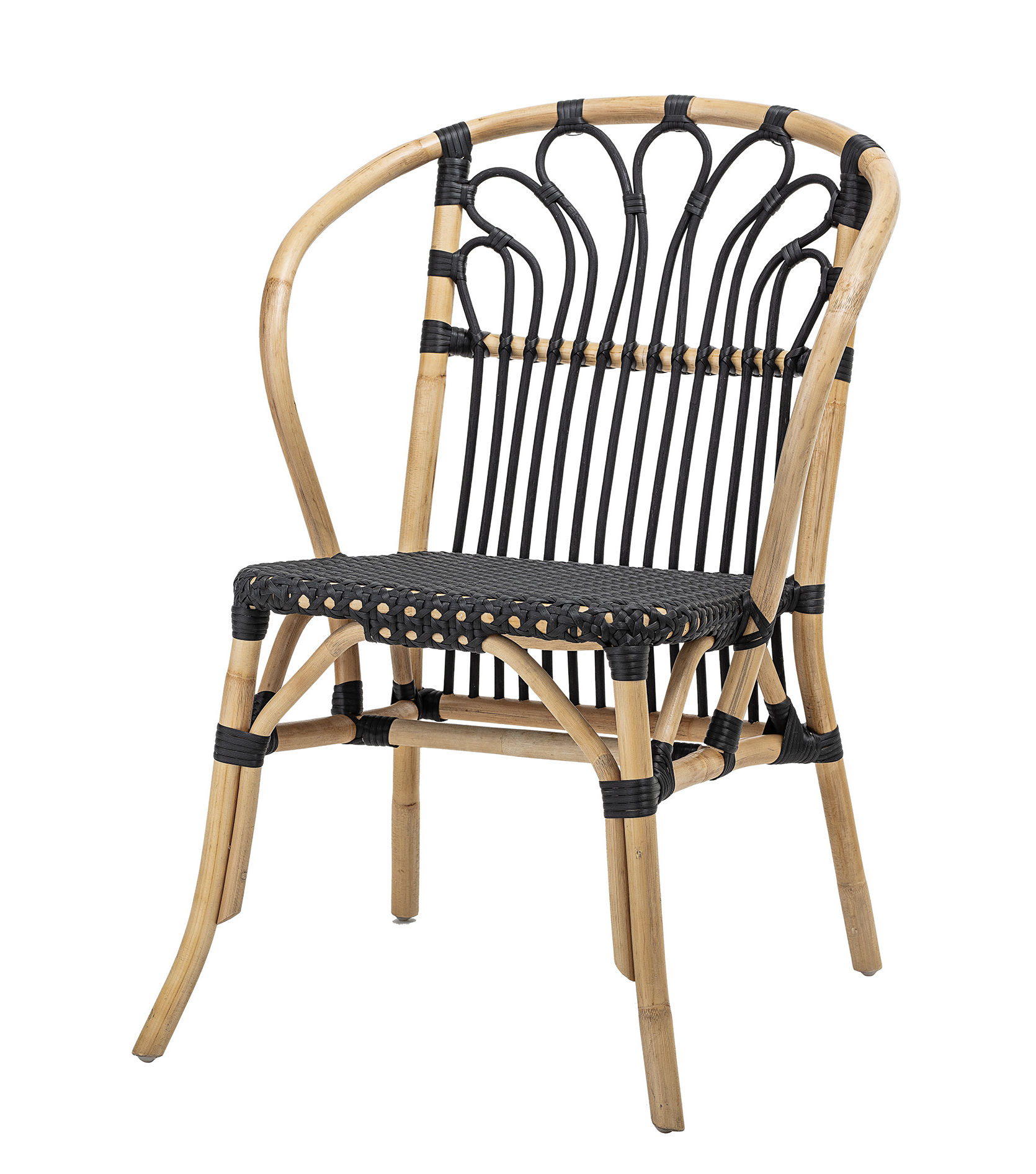 Möbel - Stühle  - Sessel / Rattan - Bloomingville - Schwarz & Natur - Rattan