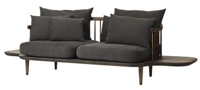 FLY Sofa / 2-Sitzer - L 240 cm - And Tradition - Dunkelgrau,Holz dunkel