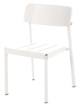 Furniture - Chairs - Shine Stackable chair - Metal by Emu - White - Varnished aluminium