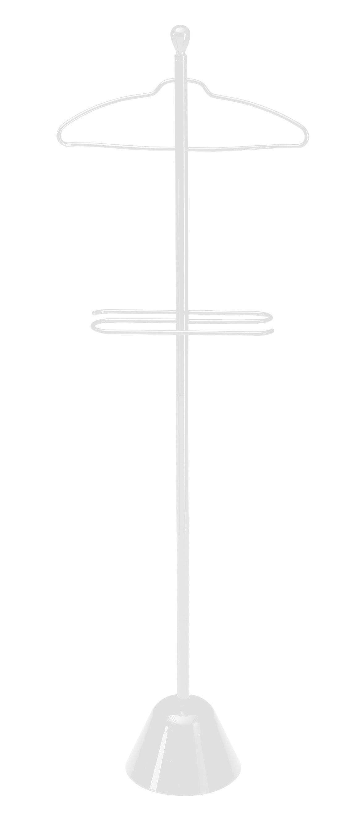 Möbel - Beistell-Möbel - Servonotte Stummer Diener - Zanotta - Weiß - gefirnister Stahl
