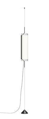Suspension Guise / Diffuseur vertical - LED - Vibia laqué graphite mat en métal