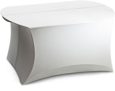 Table basse Coffee Large / 80 x 60 cm - Flux blanc en matière plastique