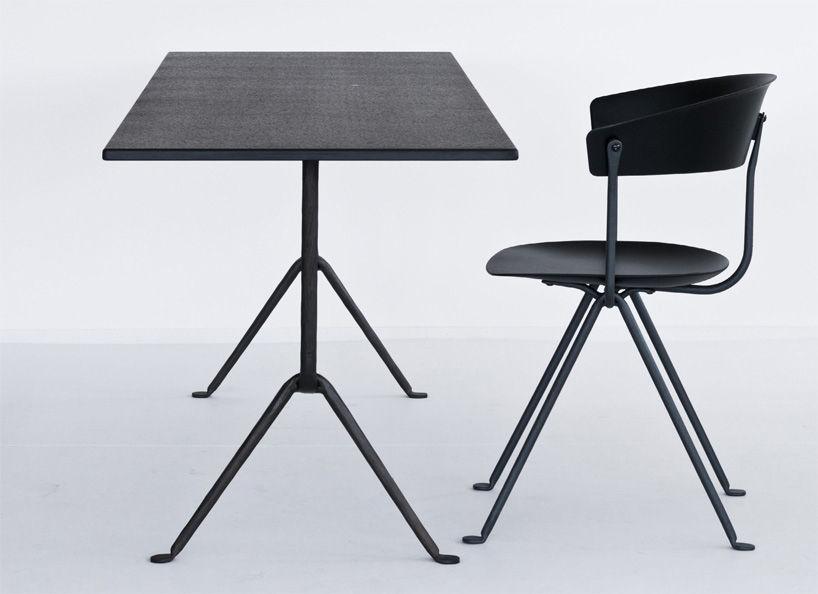 table rectangulaire officina bistrot magis noir bois. Black Bedroom Furniture Sets. Home Design Ideas