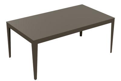 Table rectangulaire Zef / 180 x 90 cm - Matière Grise taupe en métal