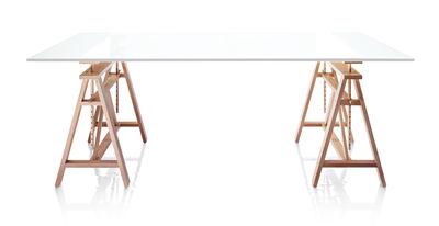 Table Teatro / L 200 cm - Magis blanc,bois clair en bois
