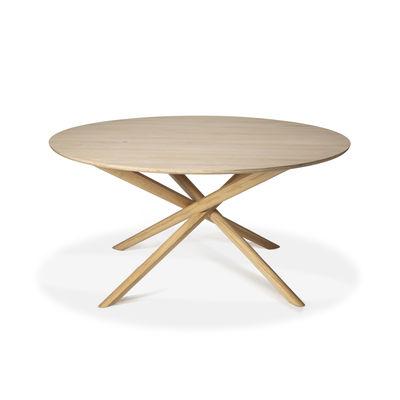 Arredamento - Tavoli - Tavolo rotondo Mikado - / Rovere massello - Ø 150 cm di Ethnicraft - Rovere - Rovere massello