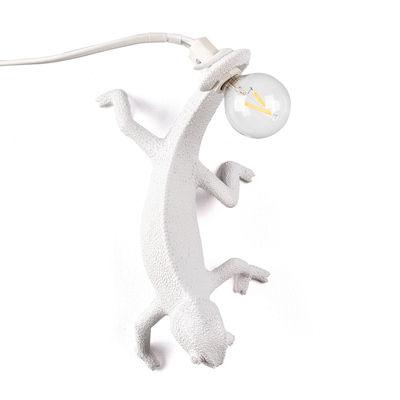 Lighting - Table Lamps - Chameleon Going Down Wall light - / Wall light - Resin by Seletti - Down / White - Resin
