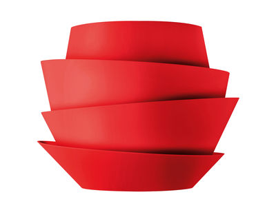 Lighting - Wall Lights - Le Soleil Wall light by Foscarini - Red - Polycarbonate