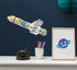 Rocket 3D colouring to inflate - / Paper rocket by OMY Design & Play