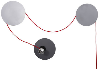 Applique avec prise Spotlight / Modulable - La Corbeille gris clair,gris foncé,gris moyen en métal