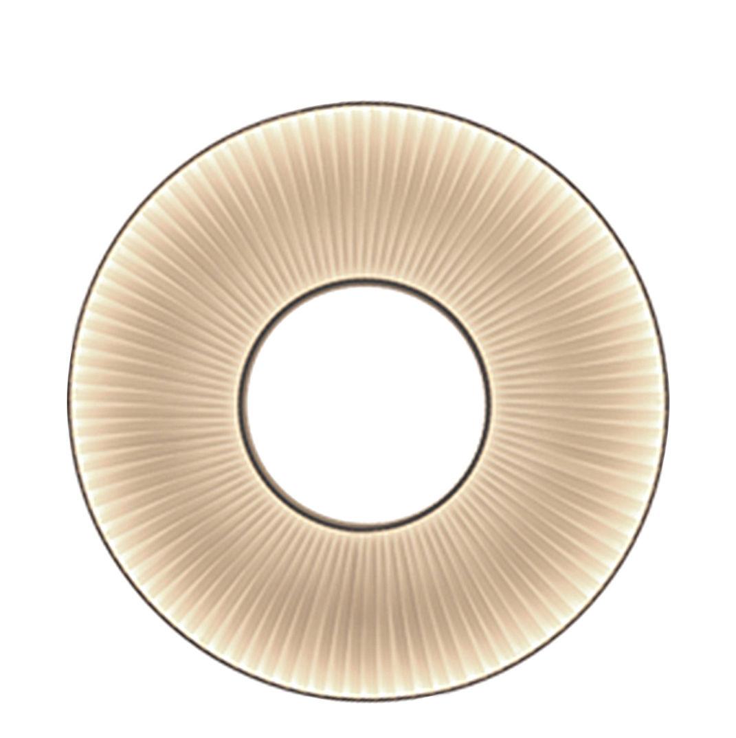 Illuminazione - Lampade da parete - Applique Iris LED / Ø 60 cm - Tessuto bianco - Dix Heures Dix - Ø 60 cm / Tessuto Bianco - Metallo, Tessuto