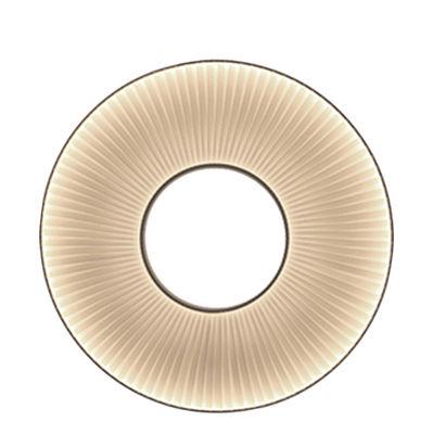 Applique Iris LED / Ø 60 cm - Tissu blanc - Dix Heures Dix blanc en métal