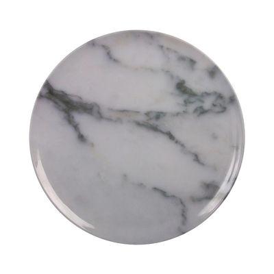 Assiette Marbre / Mélamine - Ø 34 cm - & klevering blanc en matière plastique