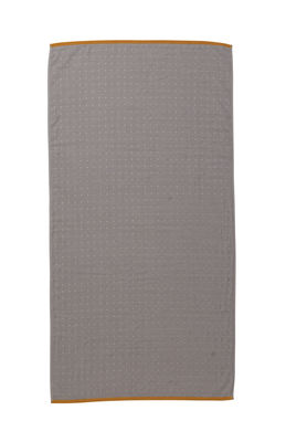 Decoration - Bedding & Bath Towels - Sento Bath towel - / Organic - 140 x 70 cm by Ferm Living - Gris - Cotton