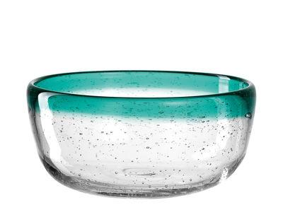 Arts de la table - Saladiers, coupes et bols - Bol Burano / Ø 13 x H 6 cm - Fait main - Leonardo - Bleu vert lagune - Verre bullé