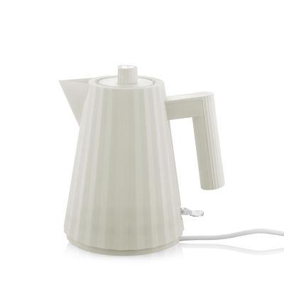 Arts de la table - Thé et café - Bouilloire électrique Plissé / 1 L - Alessi - Blanc - Résine thermoplastique