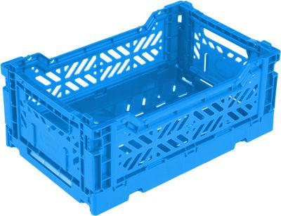 Casier de rangement Mini Box / pliable L 26,5 cm - Surplus Systems - Pop Corn bleu en matière plastique