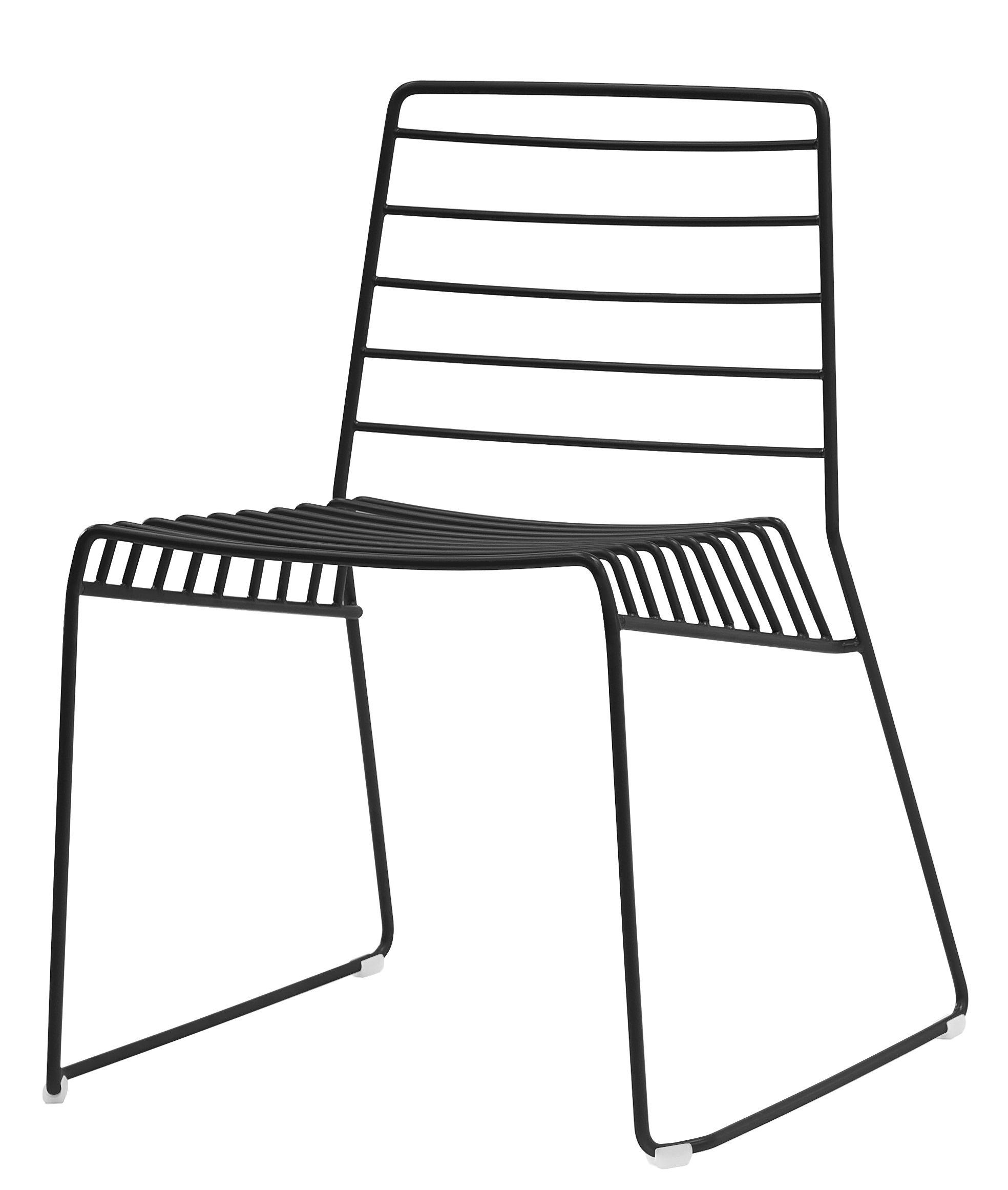Mobilier - Chaises, fauteuils de salle à manger - Chaise empilable Park / Métal - B-LINE - Noir - Acier