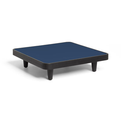 Furniture - Coffee Tables - Paletti Coffee table - / 90 x 90 cm by Fatboy - Dark ocean - Aluminium, Recycle polyethylene