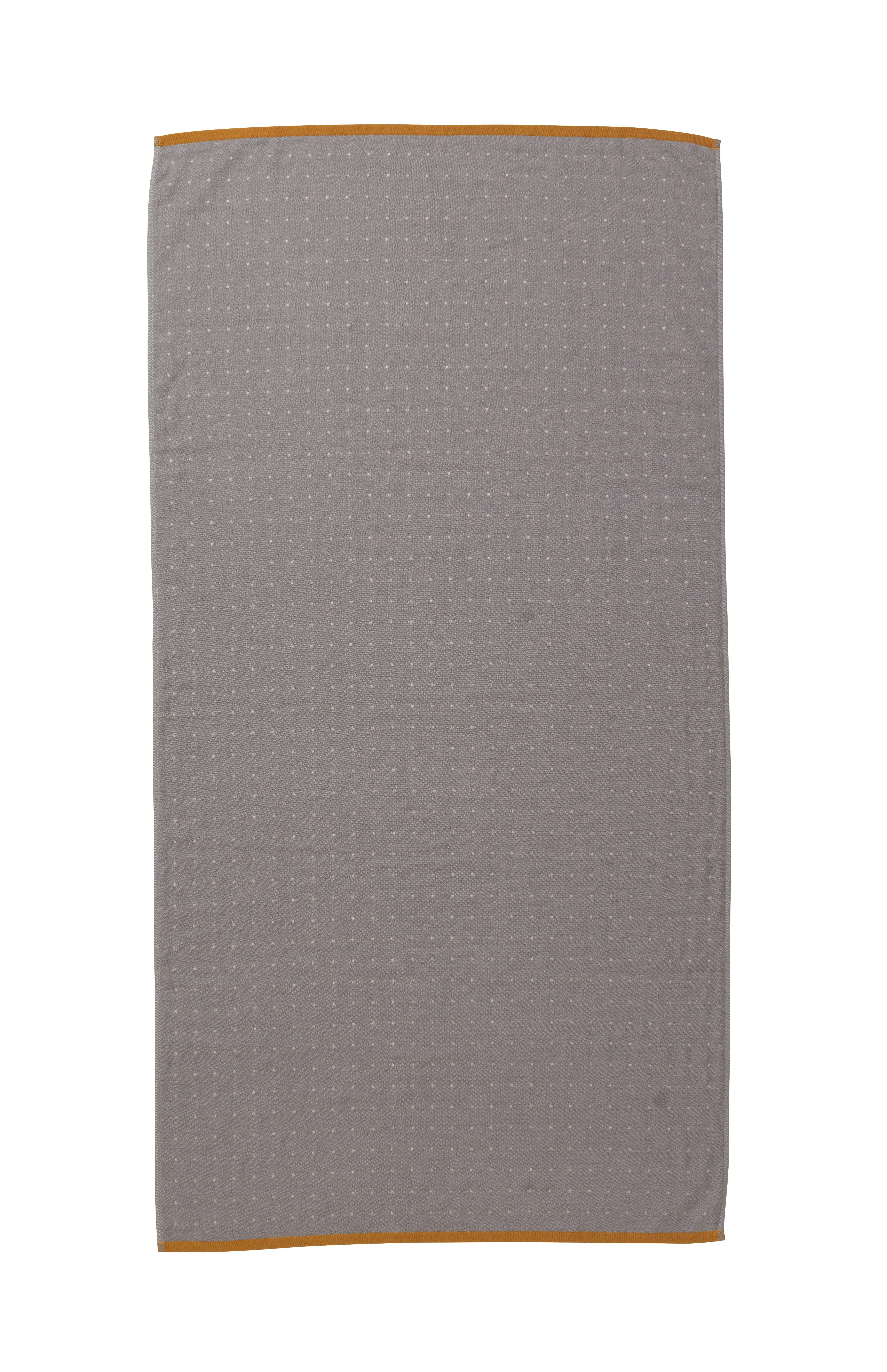Déco - Textile - Drap de bain Sento / Organic - 140 x 70 cm - Ferm Living - Gris - Coton