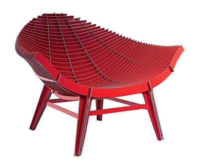 Mobilier - Fauteuils - Fauteuil bas Manta / Stratifié - Intérieur & extérieur - Ibride - Rouge - Stratifié compact (Résiste à la chaleur et à l'eau)