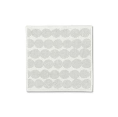 Decoration - Bedding & Bath Towels - Räsymatto Guest towel - / 30 x 30 cm by Marimekko - Räsymatto / White & light grey - Cotton