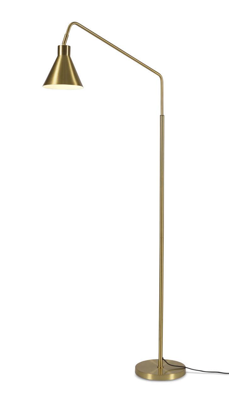 Illuminazione - Lampade da terra - Lampada a stelo Lyon - / Orientabile & girevole di It's about Romi - Or - Ferro