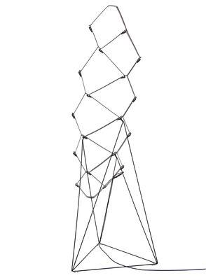 Illuminazione - Lampade da terra - Lampada a stelo Nothing - LED - H 110 cm di Luceplan - Nero - Acciaio, Alluminio