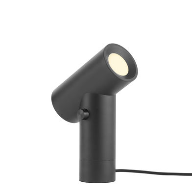 Illuminazione - Lampade da tavolo - Lampada da tavolo Beam - / Doppia sorgente luminosa - Base girevole di Muuto - Nero - Alluminio anodizzato, PVC