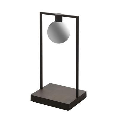 Illuminazione - Lampade da tavolo - Lampada senza fili Curiosity Sphere - / LED - L 18 x H 36 cm di Artemide - Nero / Sfera bianca - Alluminio, Vetro