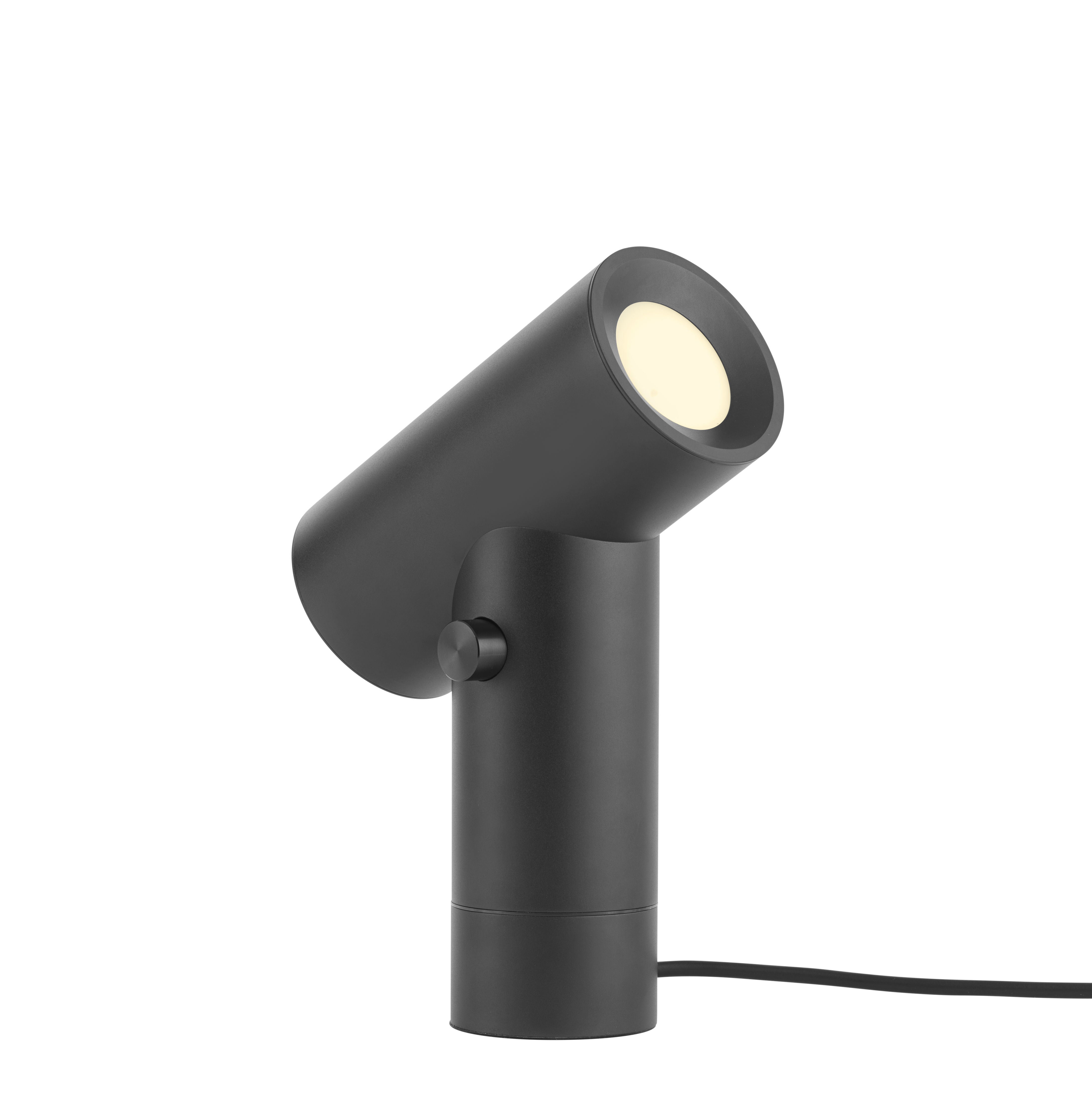 Luminaire - Lampes de table - Lampe de table Beam / Double source lumineuse - Base rotative - Muuto - Noir - Aluminium anodisé, PVC