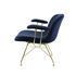 Troy Low armchair - / Velvet & steel wire feet by Magis