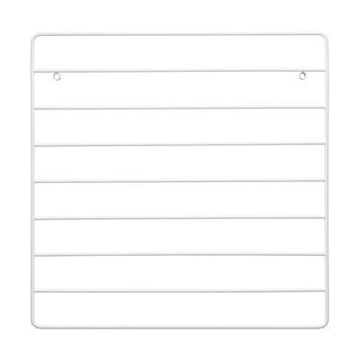Mobilier - Etagères & bibliothèques - Panneau mémo / Grille métal - 40 x 40 cm - String Furniture - Blanc - Métal laqué