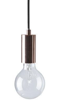 Leuchten - Pendelleuchten - Bristol Pendelleuchte - Frandsen - Kupfer / schwarzes Stromkabel - Gewebe, Metall
