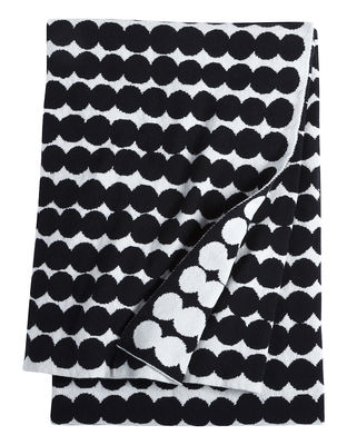 Plaid Räsymatto / 130 x 192 cm - Marimekko blanc,noir en tissu